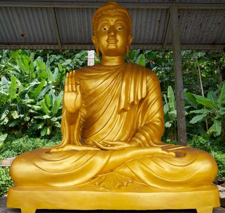 golden Buddha statue Buddhism Worship