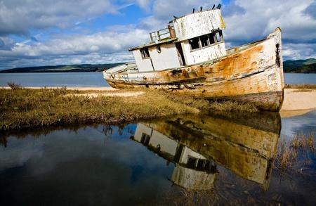 ship wreck: Shipwreck near Point Reyes National Seashore, Northern California.