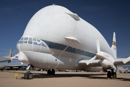 Aero Spacelines 377-SG Super Guppie on static display at the Pima Air and Space Museum in Tucson, Arizona