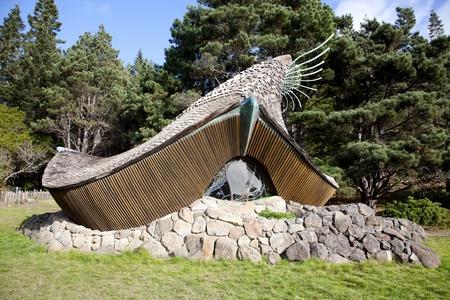 A unique non-denominational chapel at Sea Ranch, Sonoma County, Northern California designed by James Hubble