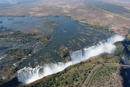 unspoilt: Victoria Falls, Zimbabwe, aerial view