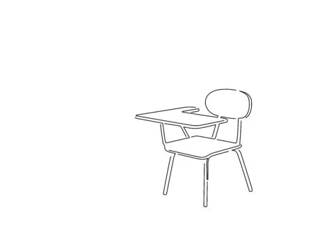 School isolated line drawing, vector illustration design. Education collection.