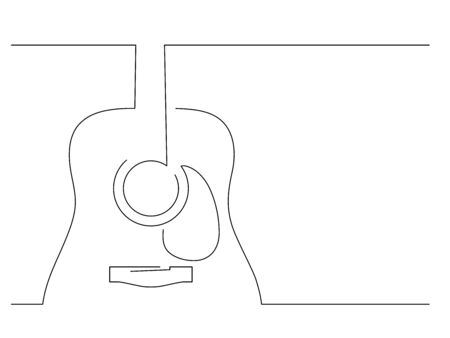 Music isolated line drawing, vector illustration design. Vettoriali