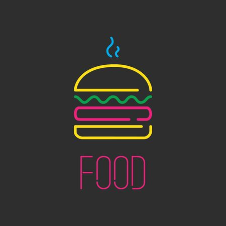 Neon icon, vector illustration design.