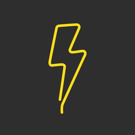 Neon icon, vector illustration design.