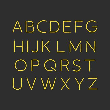 Neon icon, vector illustration design. Vettoriali