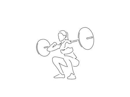Bodybuilding isolated line drawing, vector illustration design. Sport collection. Vector Illustration