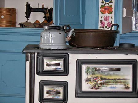 dutch: vintage dutch kitchen Stock Photo