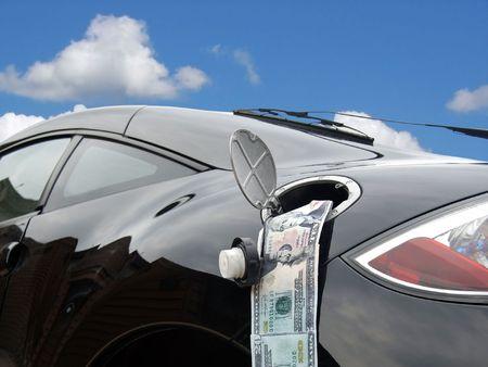 money in gasoline tank Stock Photo - 3101508