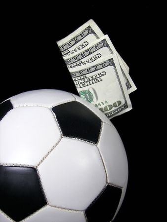 money in soccer ball Stock Photo - 3104426