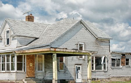 broken house: house in poor condition Stock Photo
