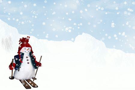 snowman skiing photo