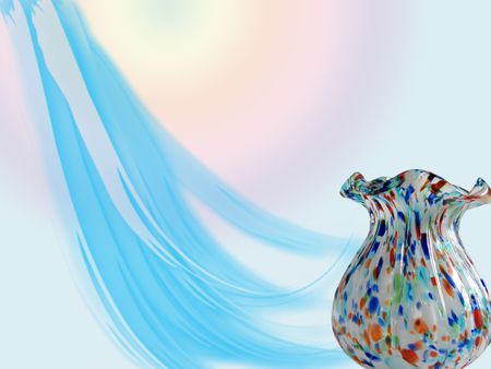 colorful vase on unique background photo
