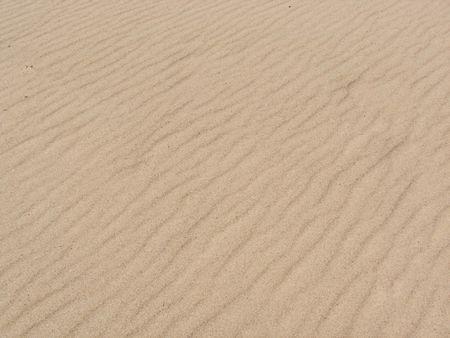 windswept: Windswept sand at the beach.