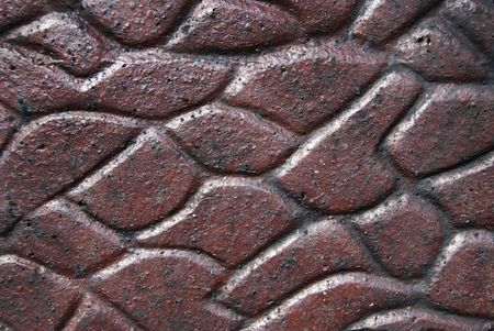 polished: Polished rock surface of an old wall. Stock Photo