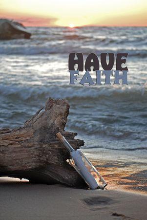 Inspirational scene on the beach. photo