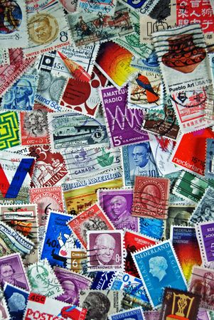 lick: Vintage stamp collection from all over the world.