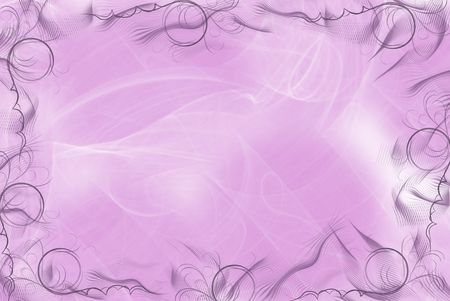 Fancy mauve swirled border on abstract background. Stok Fotoğraf - 4278828