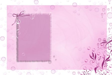 the flair: Pink bubbles with an added flair.