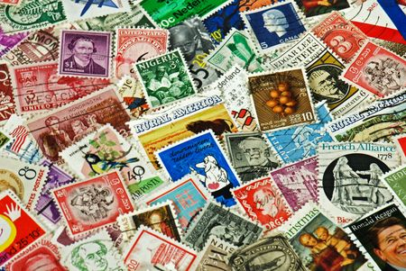 priceless: Vintage stamp collection from around the world.