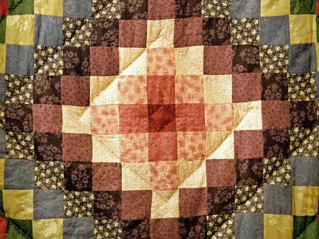 patchwork quilt: Part of an heirloom quilt square.