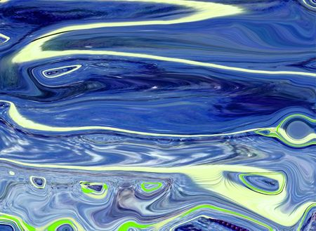 distort:   Blend of blues in a distorted abstract design.                              Stock Photo