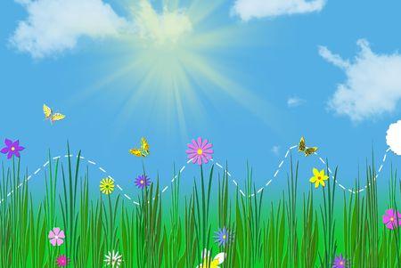 Spring bunny hopping through the grass. 版權商用圖片