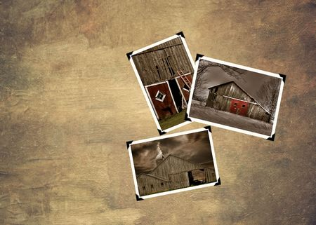 snapshots: Snapshots on texture of old barns. Stock Photo