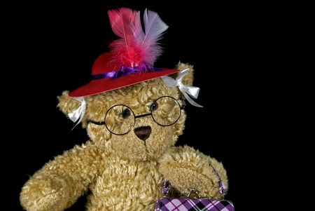 Teddy bear wearing a red hat. Stock Photo - 7439772