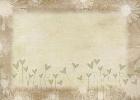Soft textured background with daisies. Imagens