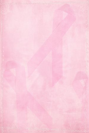 ribbon: Pink ribbon background with textured effect. Stock Photo