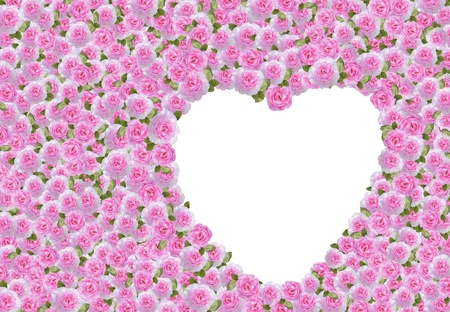 heart with layers of pink roses