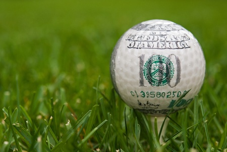 hundred dollar on golf ball