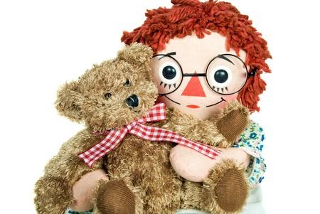 doll hugging a teddy bear Stock Photo - 10579557
