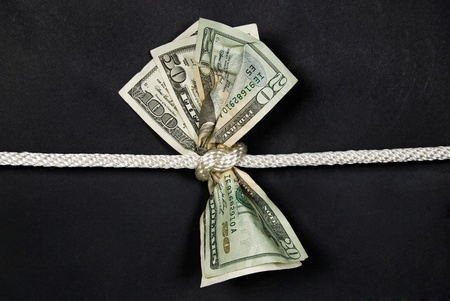 money tied in a knot
