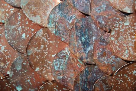tarnish: layers of copper discs