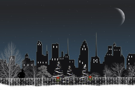Christmas in the city park. photo