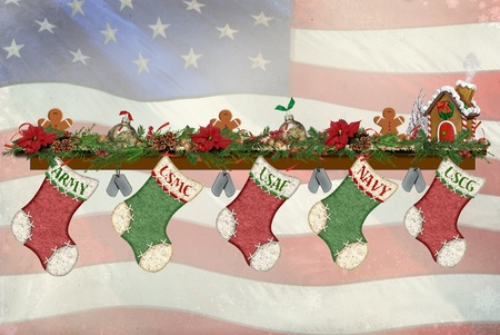 Military Christmas stockings photo