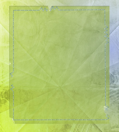 Wrinkled paper with stitching. Reklamní fotografie