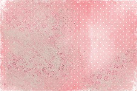 faded textured bakcground with polka dots photo