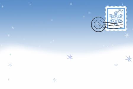 snowflake postage stamp Фото со стока