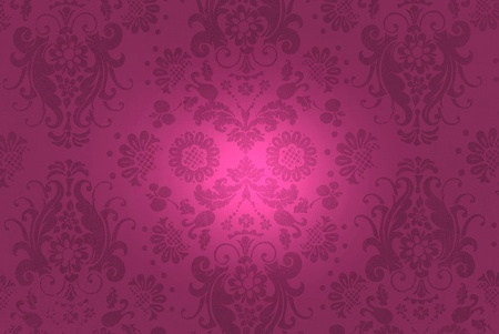 wine colored damask background with illumination photo