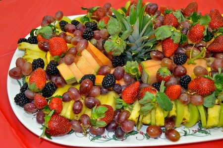 fresh fruit on holiday party platter photo