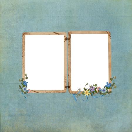 Old-fashioned frame with floral bouquet Zdjęcie Seryjne