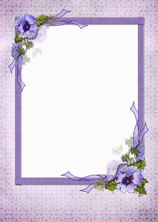 Fancy viooltje frame op oogje achtergrond