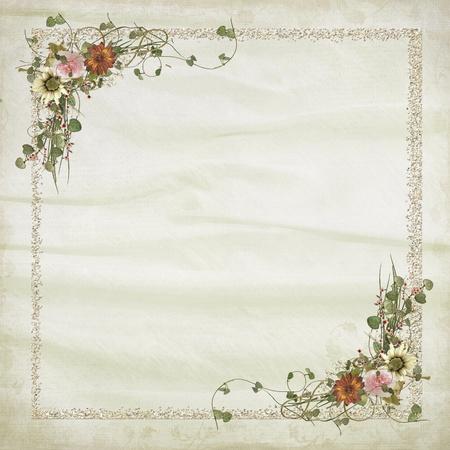 スパークル フレームにヒマワリの花束