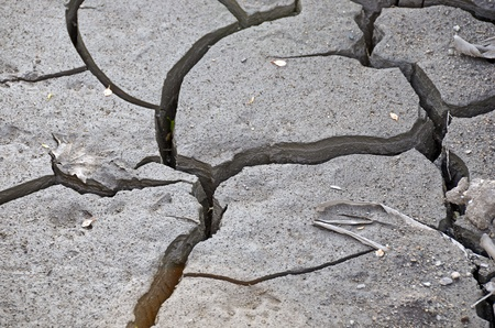 parched: close up of parched soil Stock Photo