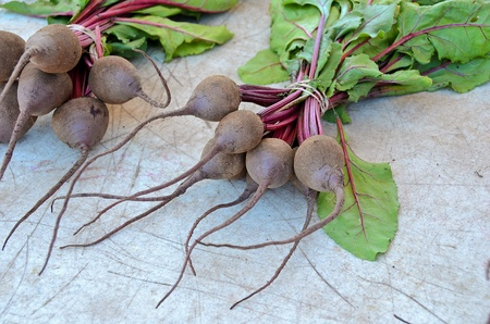 clusters of beets for sale at the market Banco de Imagens