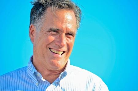 mitt: Mitt Romney, June 19, 2012, Campaign rally in Holland Editorial