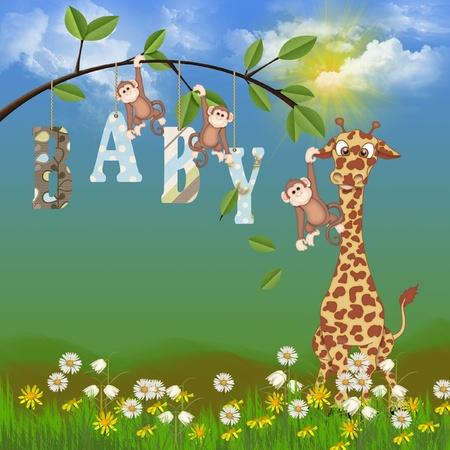 baby jungle animals  Banco de Imagens